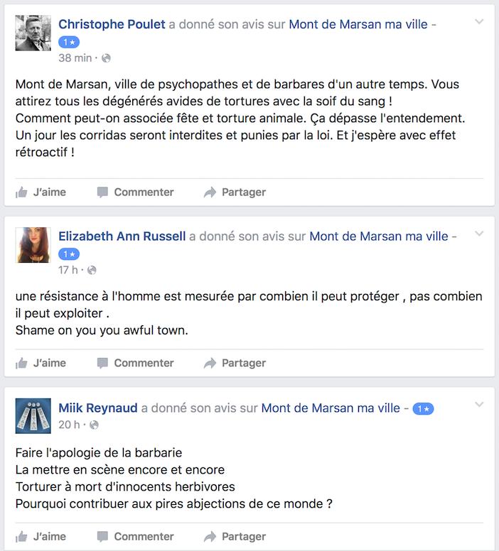 Les commentaires publiés ces jours-ci sur la page Facebook Mont-de-Marsan ma ville.