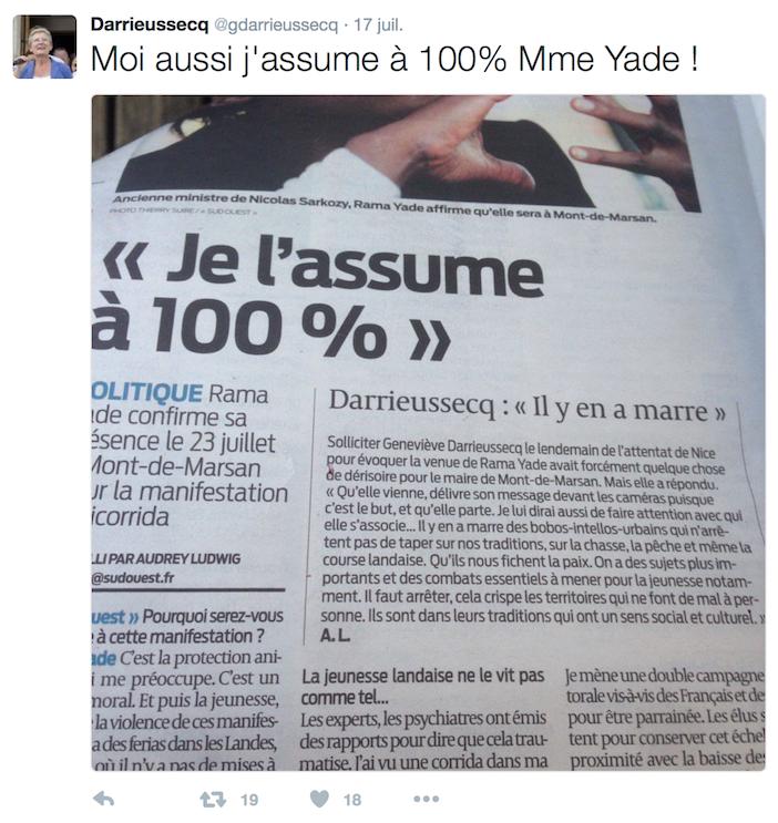 Tweet-Darrieussecq