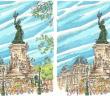 Christophe Lassalle, extraits de carnets, place de la republique, mausolée, même pas peur, herisson, jeu, 7 différences
