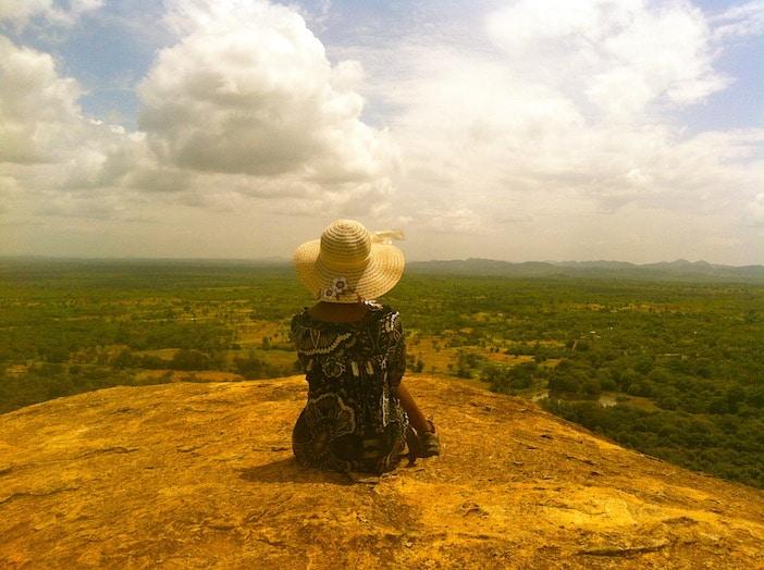 Femme montagne sri Lanka
