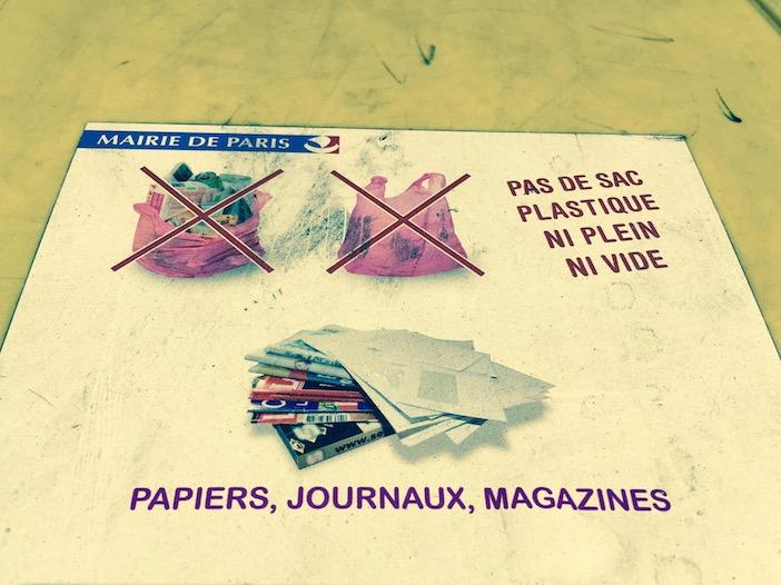 affiches pour les poubelles tri des dchets french t