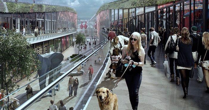 Les galeries marchandes à ciel ouvert du projet EuropaCity.