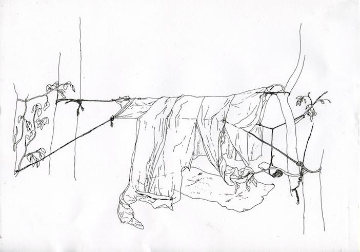 La tente de Chloé Schuiten et Clément Thiry, dessinée par eux.