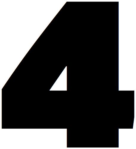 Lettrine, chiffre 4