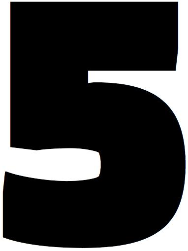 Lettrine, chiffre 5
