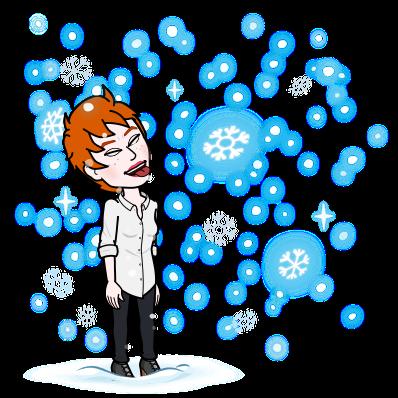 Flocons de neige, emmanuelle veil, bitmoji