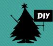 Sapin de Noël, DIY, sapin de Noël fait maison, noël minimal