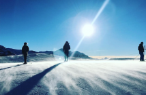 Skieurs, neige.