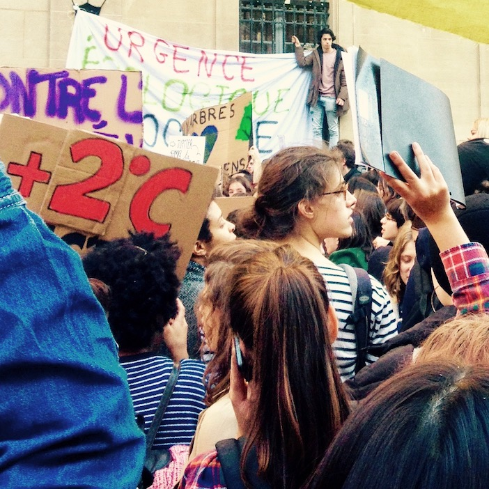 Manifestation pour le climat 15 fevrier 2019, Paris.
