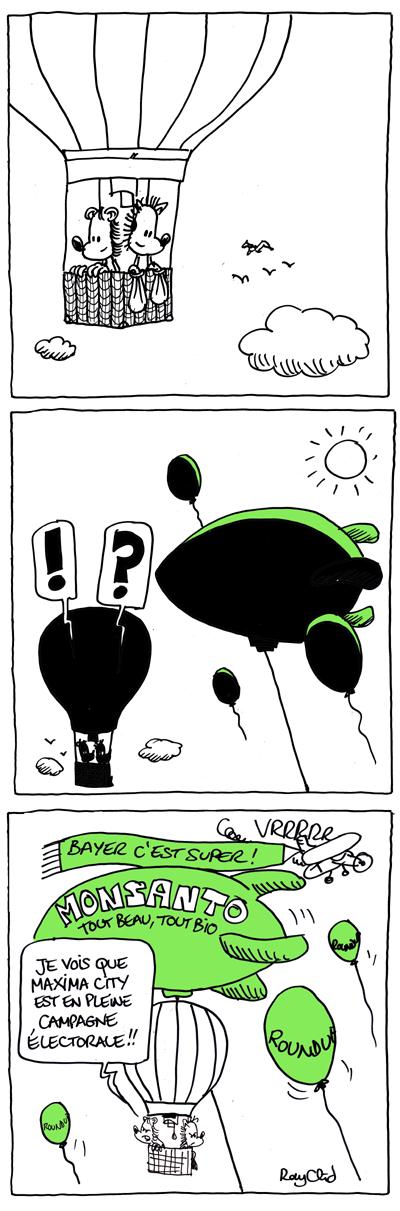 Bienvenue à Minima city #10, herisson dans une montgolfiere