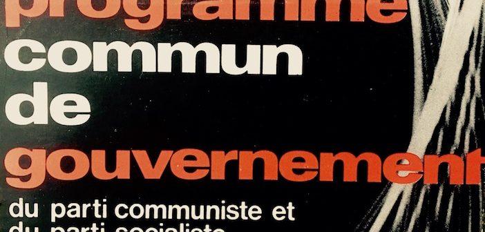 Programme commun de gouvernement.