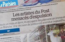 Le Parisien, article d'Eric Le Mitouard sur Le Post, le squat de la rue Blanche.