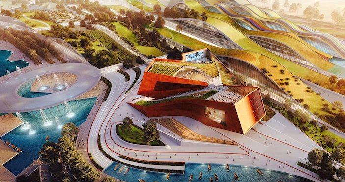 Maquette du projet Europa City