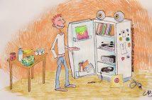 Je vis sans frigo, dessin de Corentin Beauchesne.
