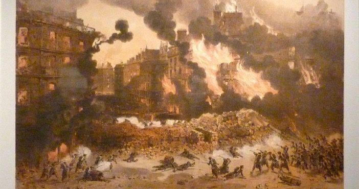 La société de consumation : les rues de Paris en flamme pendant la Commune