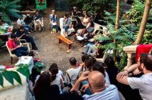 les artistes errants recueillis au Jardin denfert