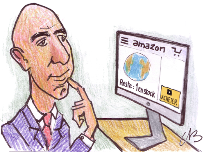 Jeff Bezos par Corentin Beauchesne