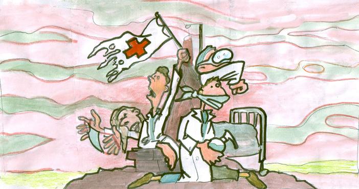 Les soignants en première ligne dans la guerre sanitaire