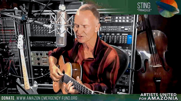 Artists United for Amazonia : le chanteur Sting