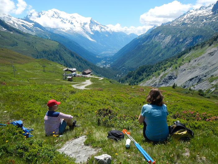 Chamonix, vallée, batons de randonnée