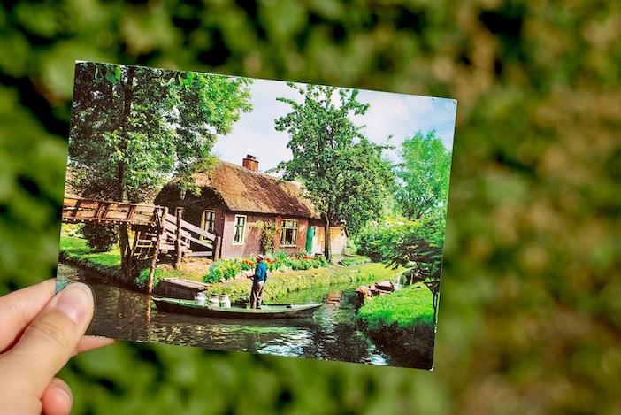 Giethoorn, une carte postale.