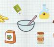 Les ingrédients de la recetet de gateau vegane