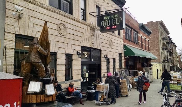 La Park Slope Food Coop vue depuis la rue.