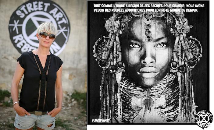 YZ, street artiste, #loveplanet