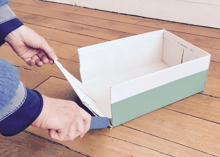 Découper la boite à chaussures