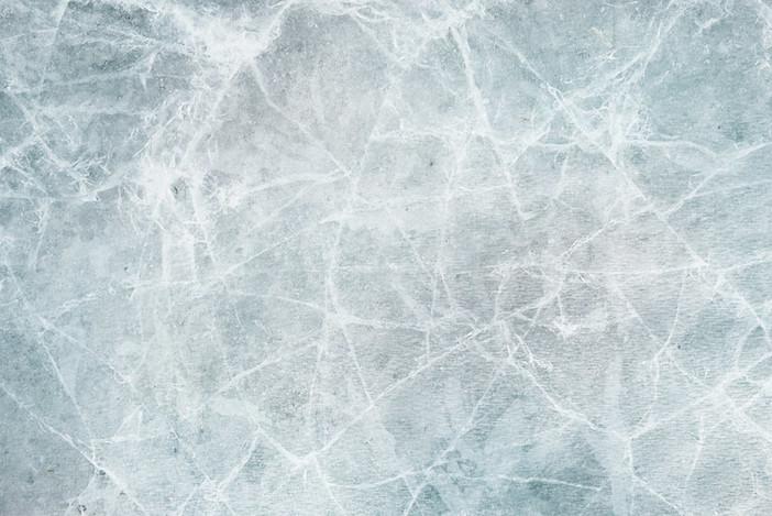 Une plaque de glace