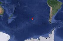 Le point Nemo au milieu du Pacifique