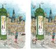 Le jeu des 7 différences : place de l'Hôtel-de-Ville – Esplanade de la Libération