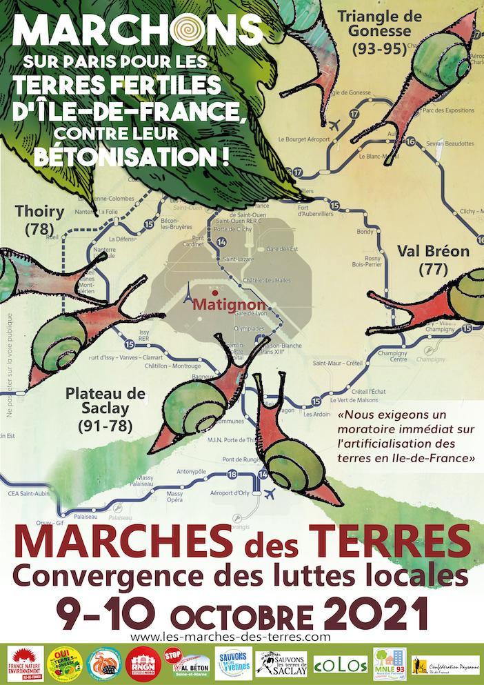 Marches des terres les 9 et 10 octobre 2021